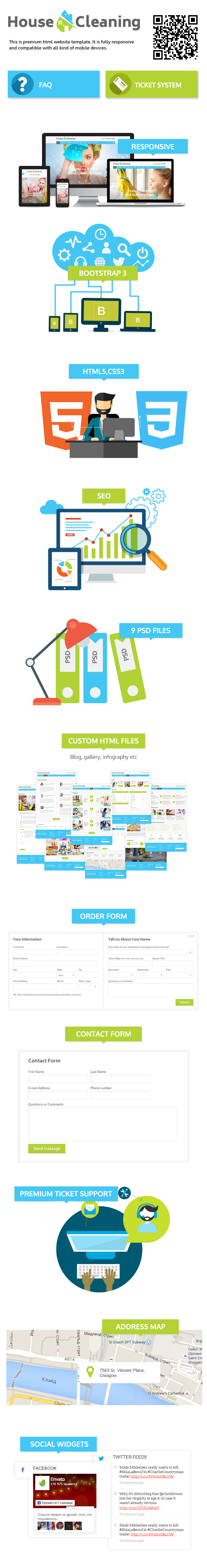 Presentation for House Cleaning html5 template