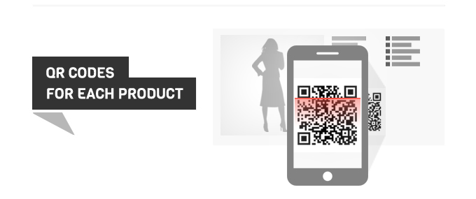 QR code on product info page