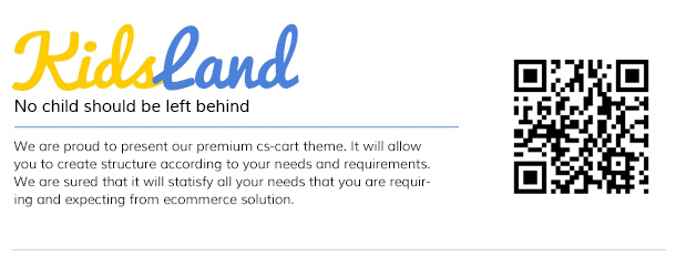 Kids Land - CS-Cart Children Store Theme