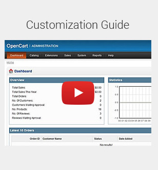 Customization video tutorial
