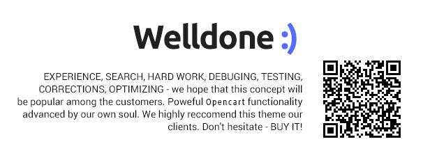 Welldone OpenCart theme description