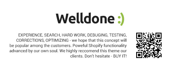 Welldone Shopify theme