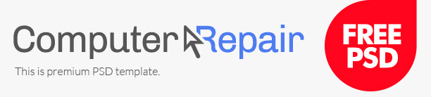 Computer Repair Free PSD template