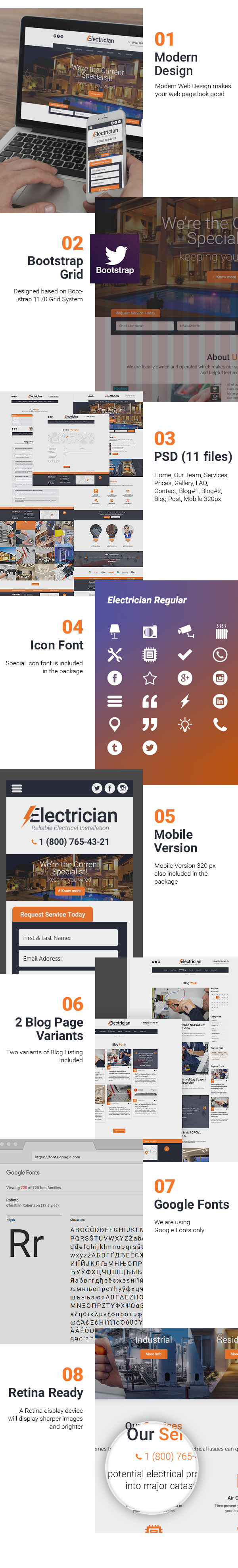 Electrician Free Psd Template Presentation