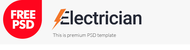Electrician free psd template