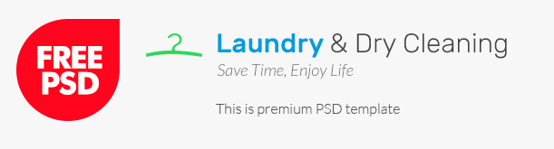 Laundry free psd template