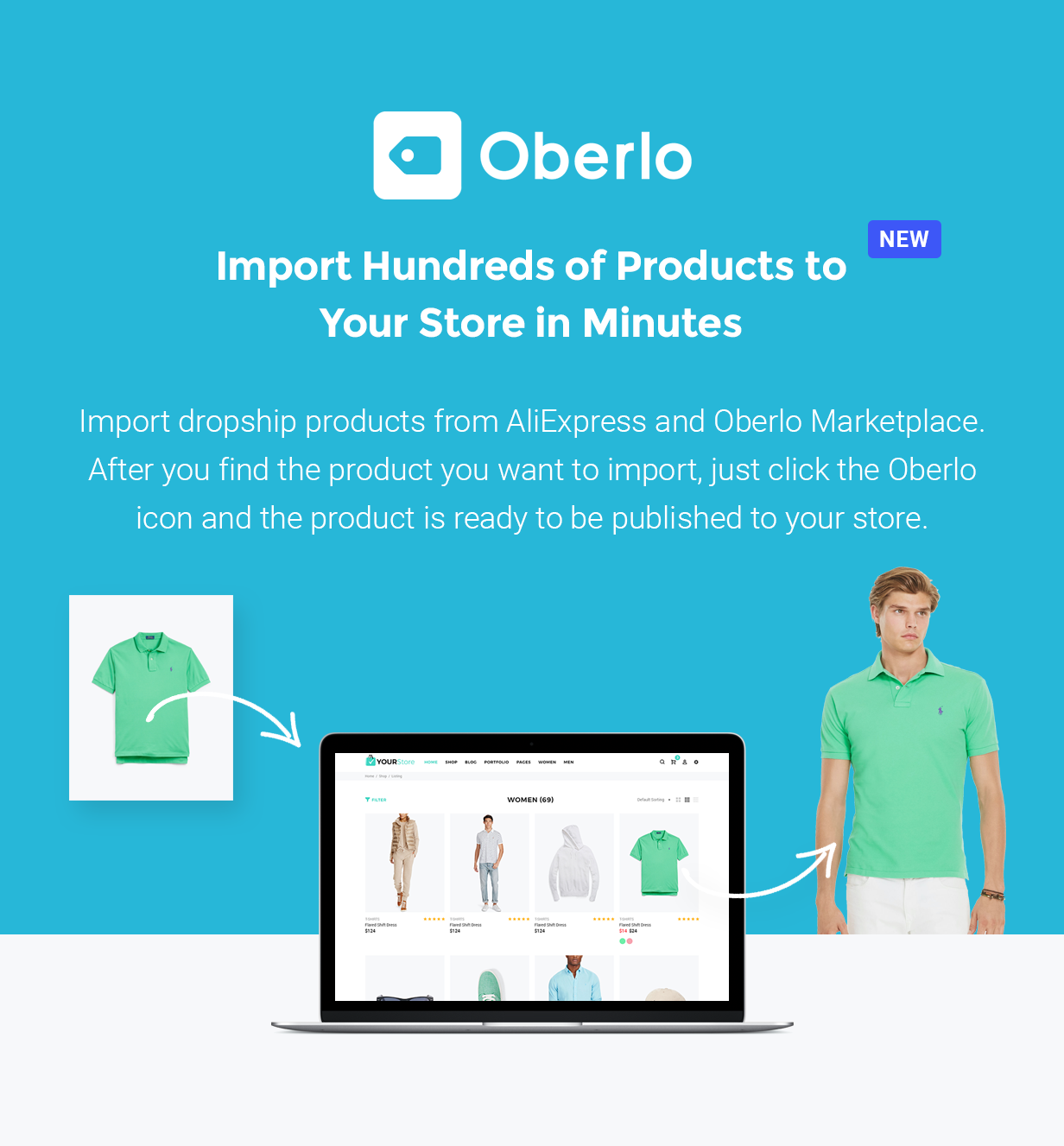 YourStore - Shopify theme-Oberlo-technology