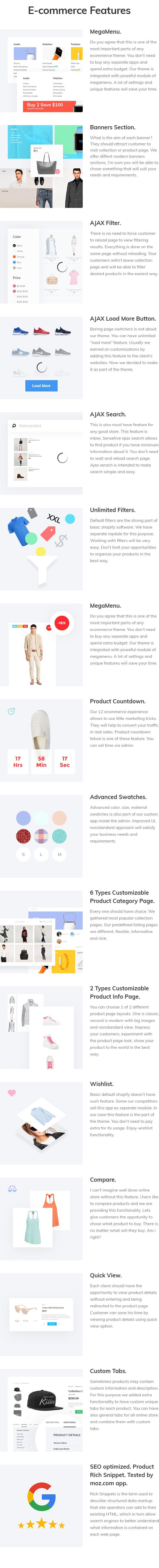 MOGO - eCommerce features