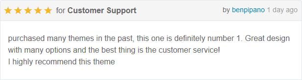 Check customers feedback for Mogo theme